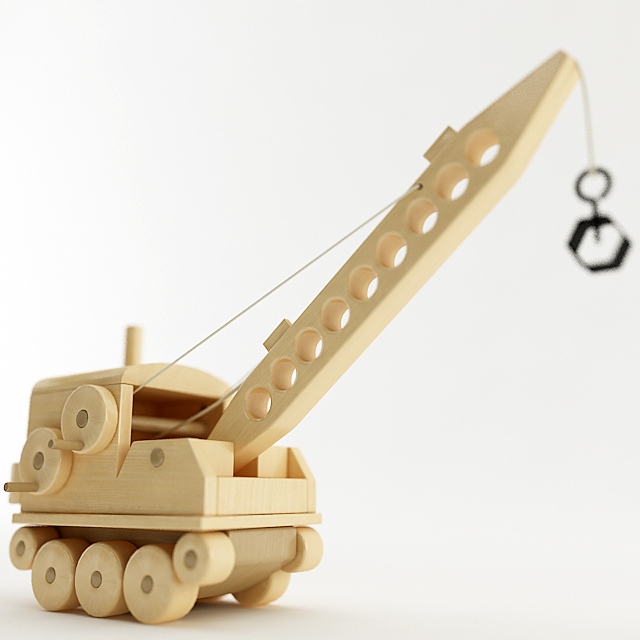 how to make a magnetic toy crane