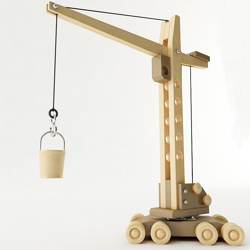 In front of you is type A project of the wooden truck mounted crane ...
