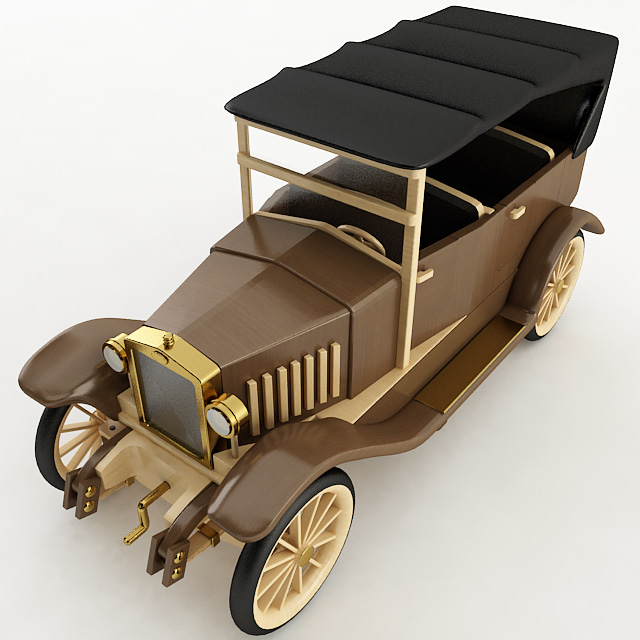 BUILDING ANTIQUE MODEL CARS IN WOOD