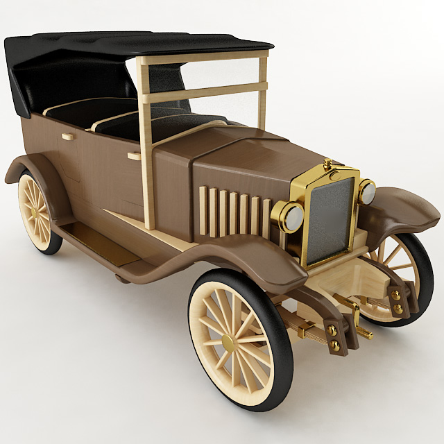 Wooden Antique Toy Car Wooden Antique Toy Car [Wooden